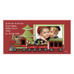 Christmas Train -  Photo Holiday Birthday Party In Photo Card Template