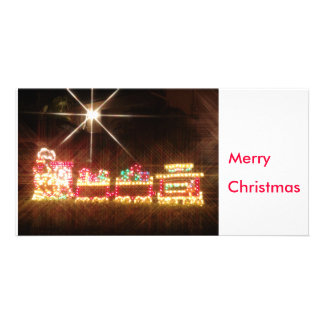Christmas Train Picture Card