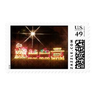 Christmas Train Postage Stamps