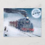 "Christmas train postcard<br><div class=""desc"">Christmas train postcard.  And don't forget you can customize your order.</div>"