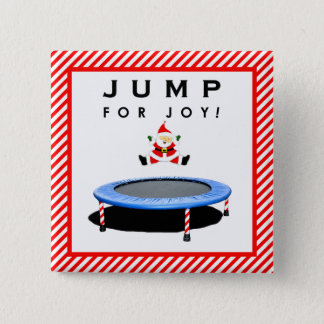 Christmas trampoline gifts pinback button