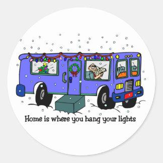 Christmas Travel RV stickers