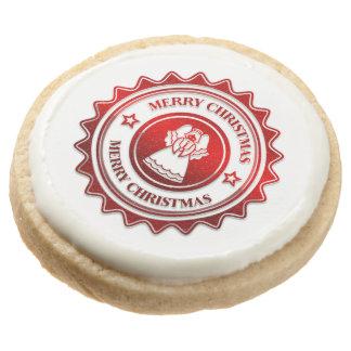 Christmas treat round shortbread cookie