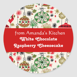 Christmas Treats, From the Kitchen, Custom Classic Round Sticker