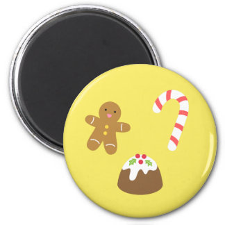 Christmas Treats, Gingerbread Man, Candy, Pudding Magnet
