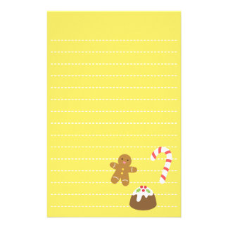 Christmas Treats, Gingerbread Man, Candy, Pudding Stationery