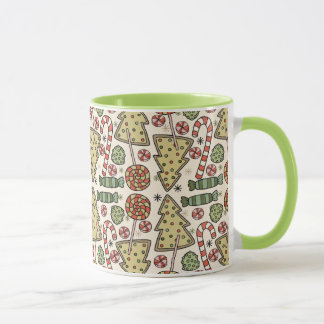 Christmas Treats Holiday Pattern Mug