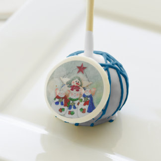 Christmas Treats Snow Family Cake Pops