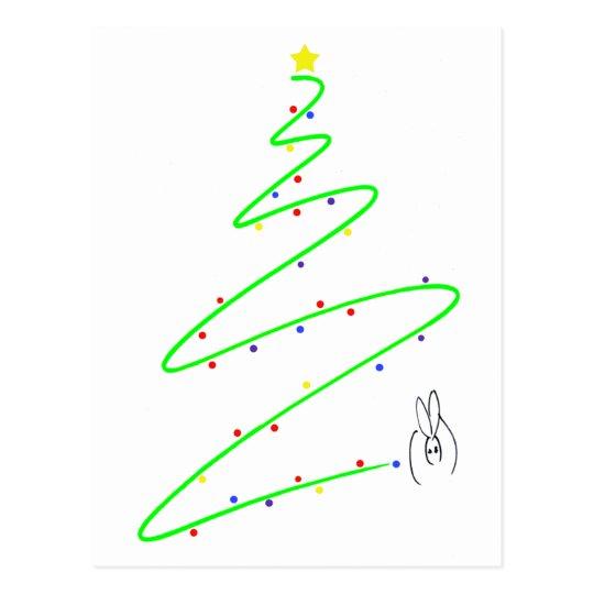 Christmas tree01 postcard