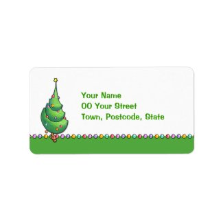 Christmas Tree2 Address Label label