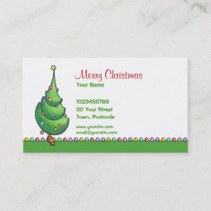 Seasons greetings business cards zazzle christmas tree2 business card colourmoves