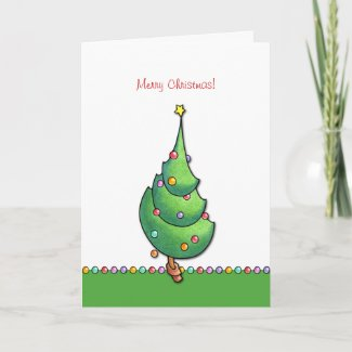 Christmas Tree2 Card card