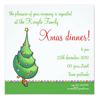 Christmas Tree2 Party Invitation