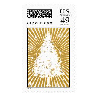 Christmas Tree - 24 KT Postage Stamps