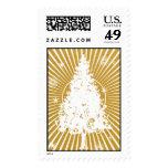 Christmas Tree - 24 KT Postage Stamp
