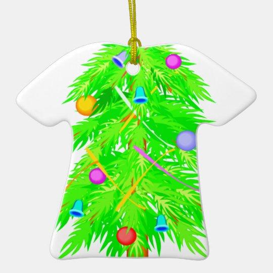 Christmas tree 2 ceramic ornament