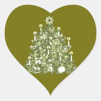 Christmas Tree 2 Heart Sticker