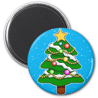 Christmas Tree 2 Inch Round Magnet