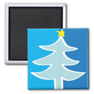 Christmas Tree 2 Inch Square Magnet