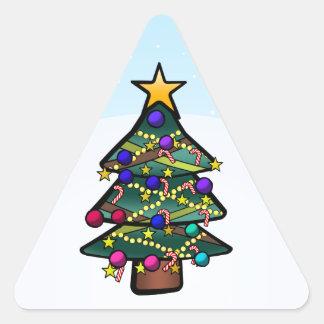 Christmas Tree 2 Triangle Sticker