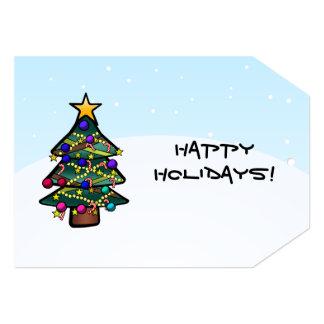 "Christmas Tree 2 Tag 5"" X 7"" Invitation Card"