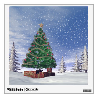 Christmas tree - 3D render Wall Decal