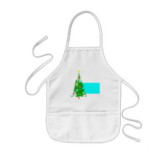 christmas tree #5 kids' apron