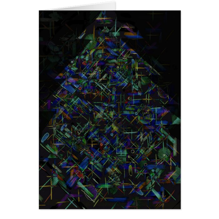 Christmas Tree Abstract 2 Card