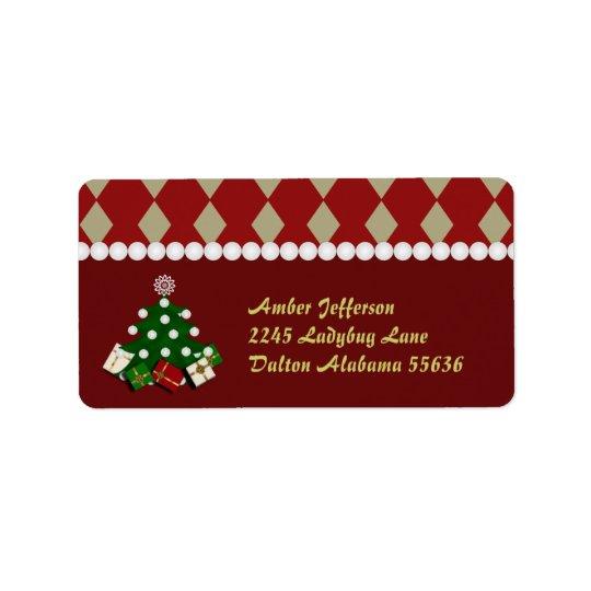 Christmas Tree Address Stickers