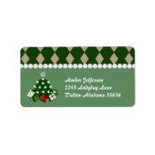 Christmas Tree Address Stickers label