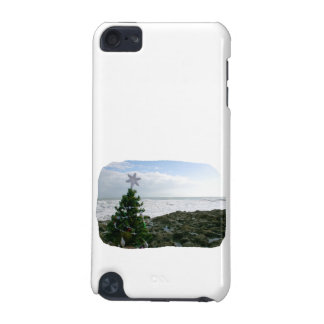 Christmas Tree Against Beach Rocks iPod Touch (5th Generation) Case