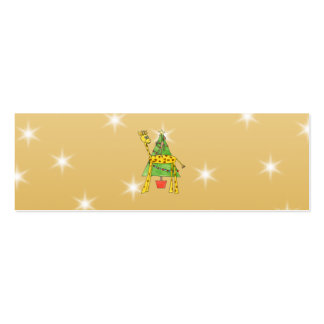 Christmas Tree and Animals. Double-Sided Mini Business Cards (Pack Of 20)