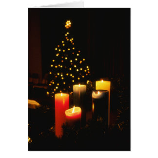 Christmas Tree and Candles Greeting Card