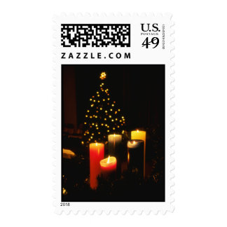 Christmas Tree and Candles Stamp