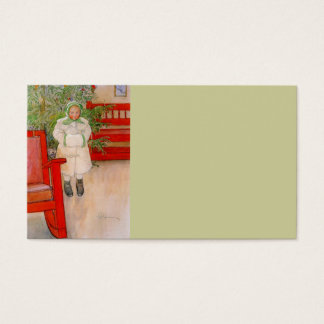 Christmas Tree and Child in Furs Business Card