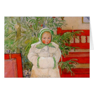 Christmas Tree and Child in Furs Card