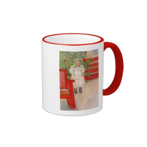 Christmas Tree and Child in Furs Coffee Mug