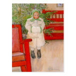 Christmas Tree and Child in Furs Postcards