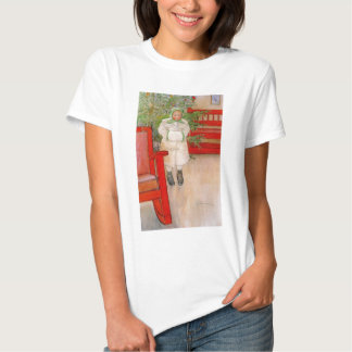 Christmas Tree and Child in Furs T-shirts