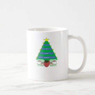 Christmas Tree and Childs Name Mug