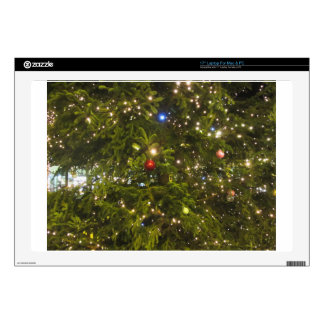 """Christmas tree and Christmas decorations 17"""" Laptop Skin"""