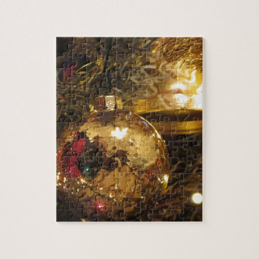 Christmas tree and decorations jigsaw puzzle