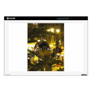 Christmas tree and Christmas decorations Laptop Skin