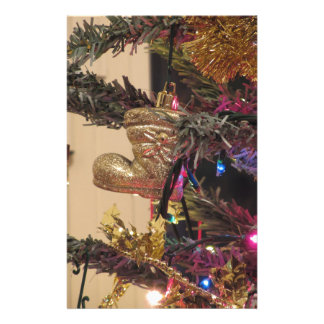 Christmas tree and Christmas decorations Stationery