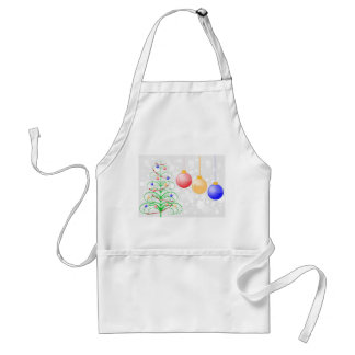 Christmas Tree and Colorful Baubles Adult Apron
