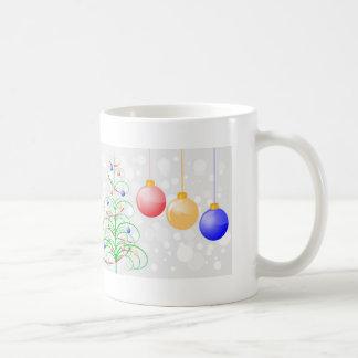 Christmas Tree and Colorful Baubles Coffee Mug