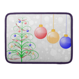 Christmas Tree and Colorful Baubles Sleeves For MacBooks