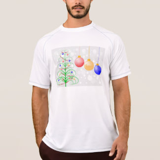 Christmas Tree and Colorful Baubles Tshirts