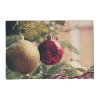 Christmas tree and decoration laminated placemat