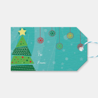 Christmas Tree and Ornaments Pack Of Gift Tags